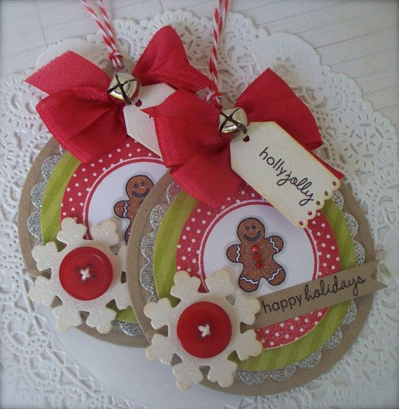 Christmas Gingerbread Gift Tags