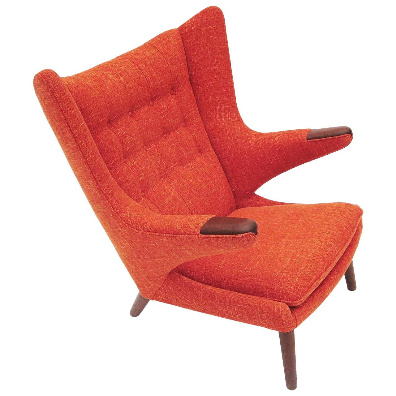 Hans Wegner Papa Bear Chair for A. P. Stolen, 1951 | See more antique and modern Armchairs at http://www.1stdibs.com/furniture/seating/armchairs