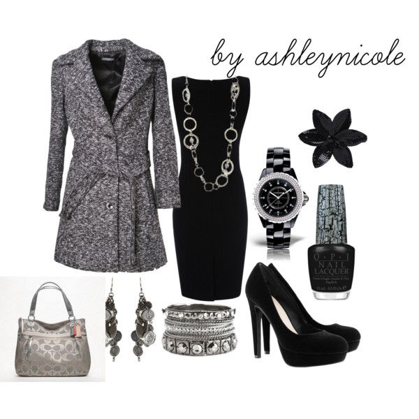 """Black and Grey 2"" by lilmisscramer on Polyvore"