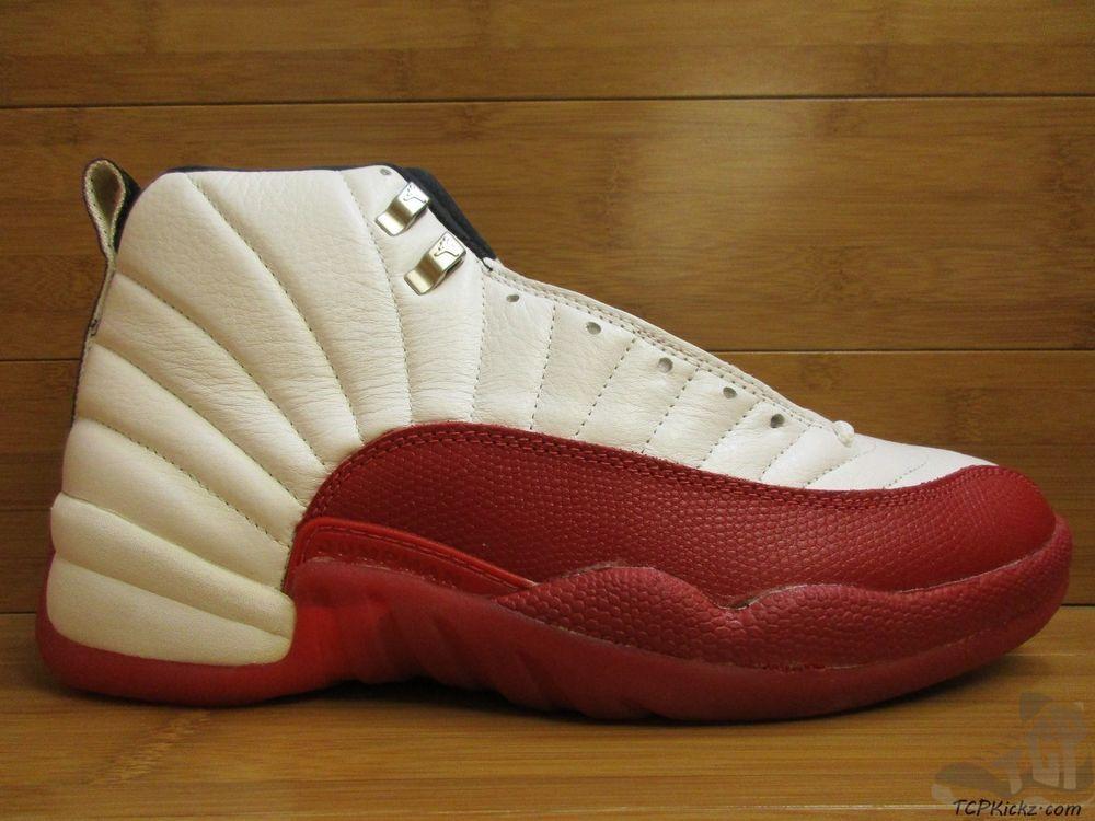 newest 68f46 d15a7 Vtg OG 1996 Nike Air Jordan XII 12 s sz 10.5 Cherry ORIGINAL White Black  Red DS  Jordan  AthleticSneakers  tcpkickz