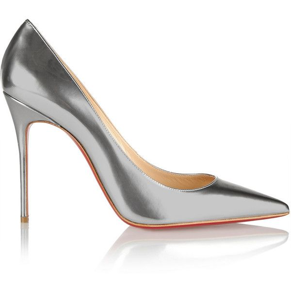 d98a4f953bb Christian Louboutin Décolleté 100 metallic leather pumps (£445 ...