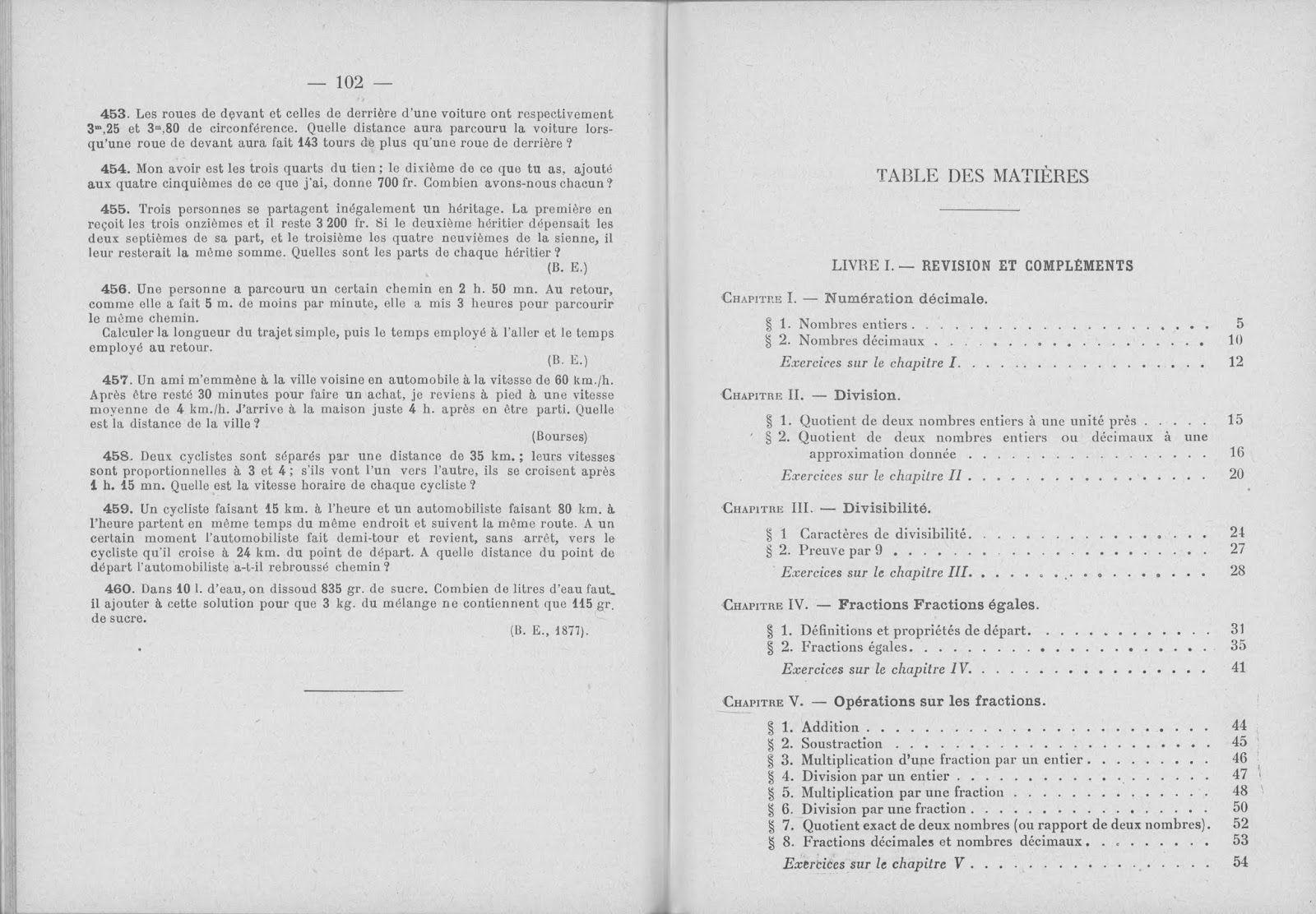 Brachet Dumarque Arithmetique Algebre Geometrie Cinquieme 1re Annee D Enseignement Primaire Superieur 1939 Grandes Images Algebre Arithmetique Enseignement Primaire