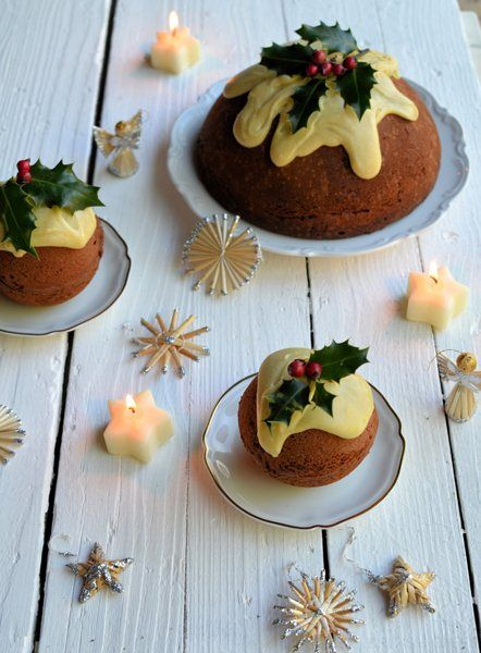 double chocolate christmas pudding cakes great british chefs