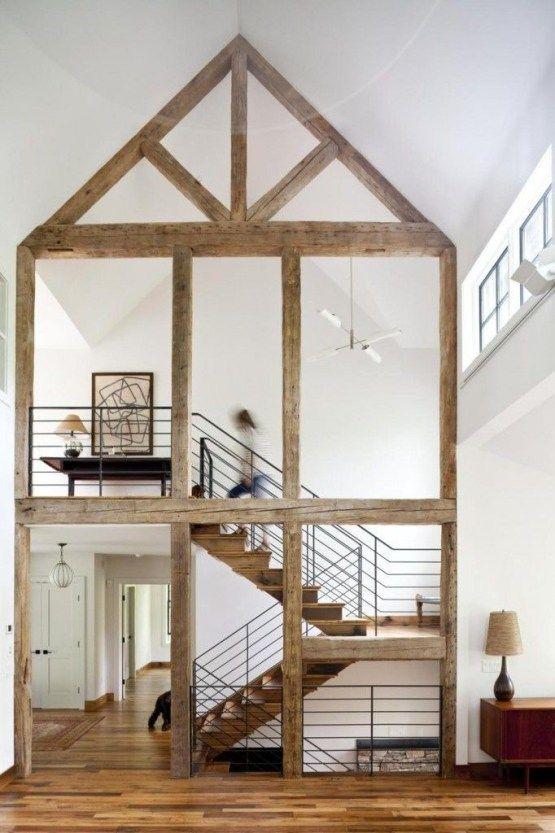 19 escaleras en pisos nórdicos Architecture, Woods and House