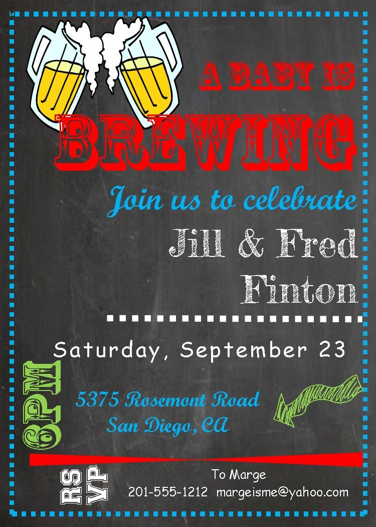 Perfect Coed Baby Shower Invites Composition - Invitations and ...