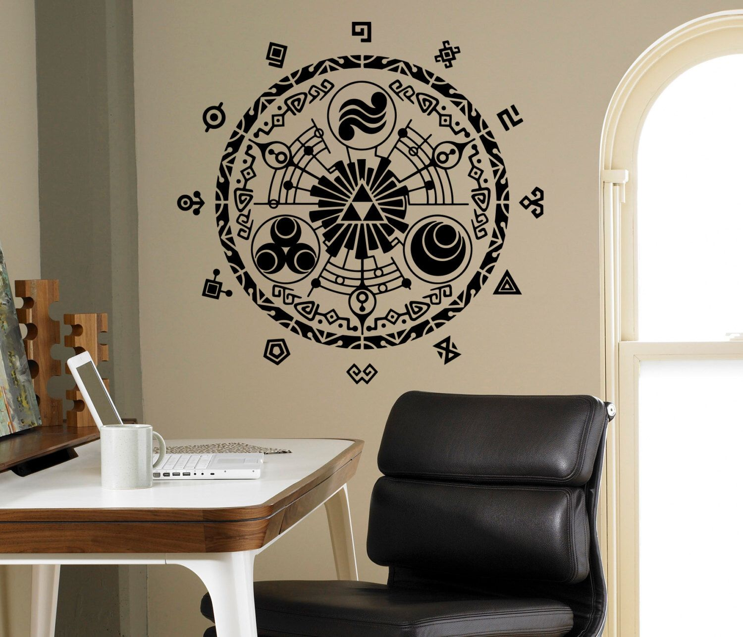 legend of zelda wall vinyl decal gate of time wall sticker on wall stickers for home id=75494
