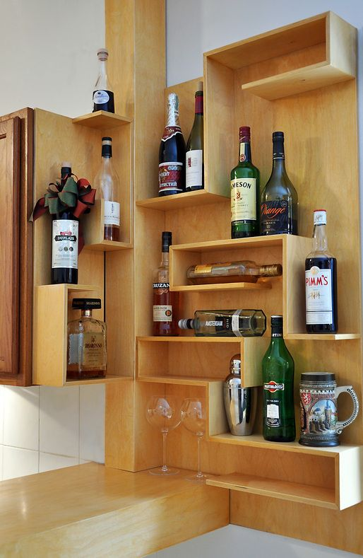 Creative Home Bar amazing diy home bar with rustic decor also stone flooring Turning The Corner Diy Home Bar 17 Minibars To Make At Home Bob Vila
