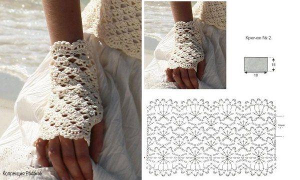 en arrivant détaillant en ligne remise chaude Echarpes et mitaines au crochet : modèles et grilles à ...