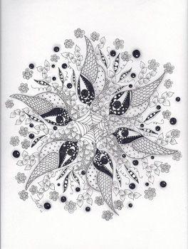 Sparrows - Zentangled Zoo Animal Wildlife Insect Coloring pages colouring adult detailed advanced printable Kleuren voor volwassenen coloriage pour adulte anti-stress kleurplaat voor volwassenen Line Art Black and White Zentangle Mandala