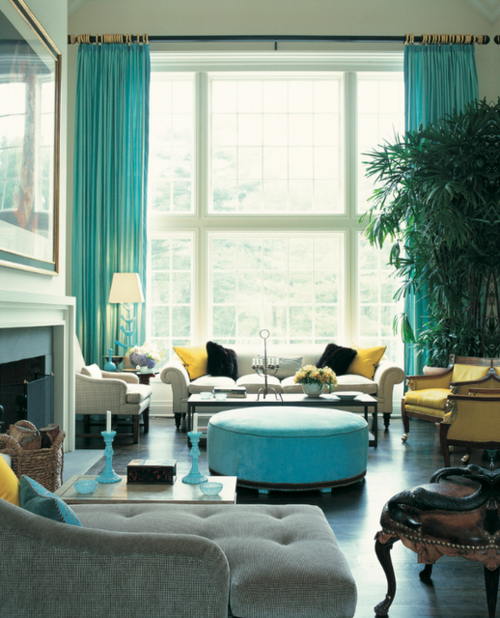 Great Use Of Color Aqua Living Room Turquoise Room Living Room Turquoise