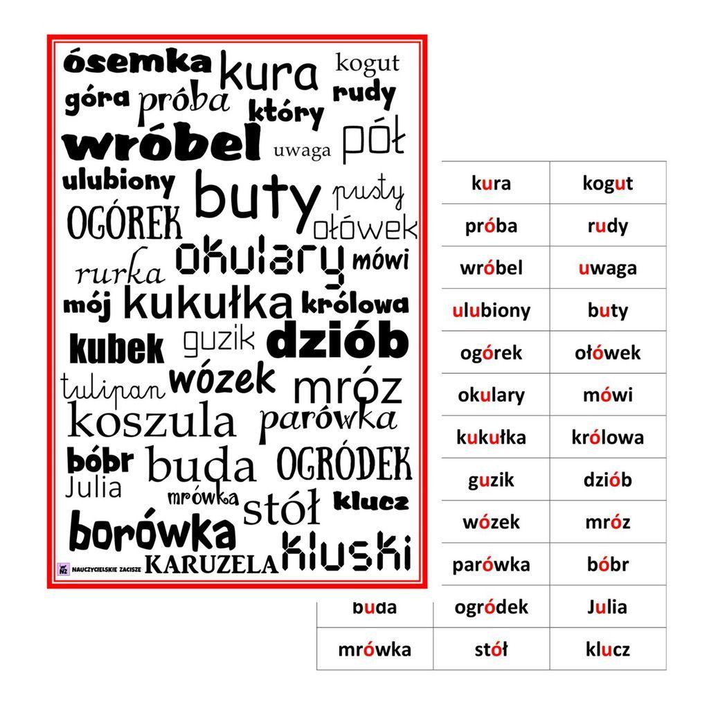 Wypatrywanka Bystre Oczko Ortograficzna O U 7585211853 Oficjalne Archiwum Allegro Education School Word Search Puzzle