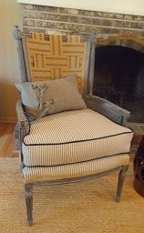 Thrift Store Chair Rehabbed With Jute Webbing Paint And