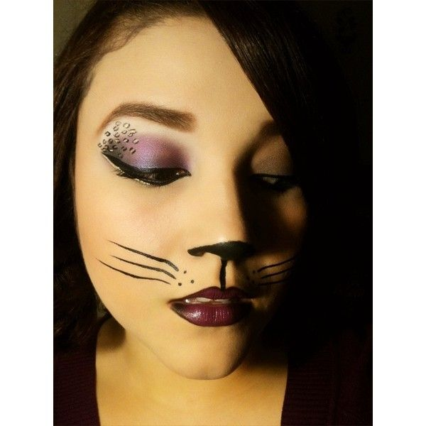 halloween sexy cat halloween makeup a liked on polyvore