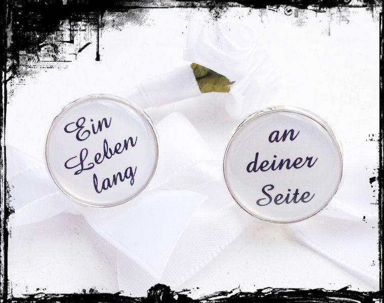 Manschettenknöpfe mit Text Hochzeit Bräutigam