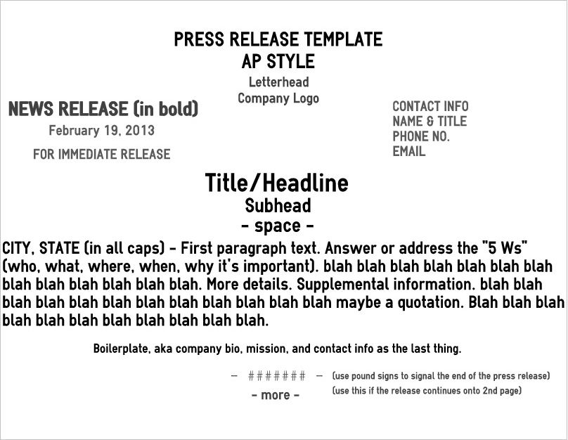 Contrary to popular belief, the press release has not gone the way - press release template