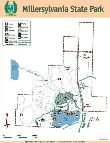 Millersylvania State Park map Places I ve Been Pinterest