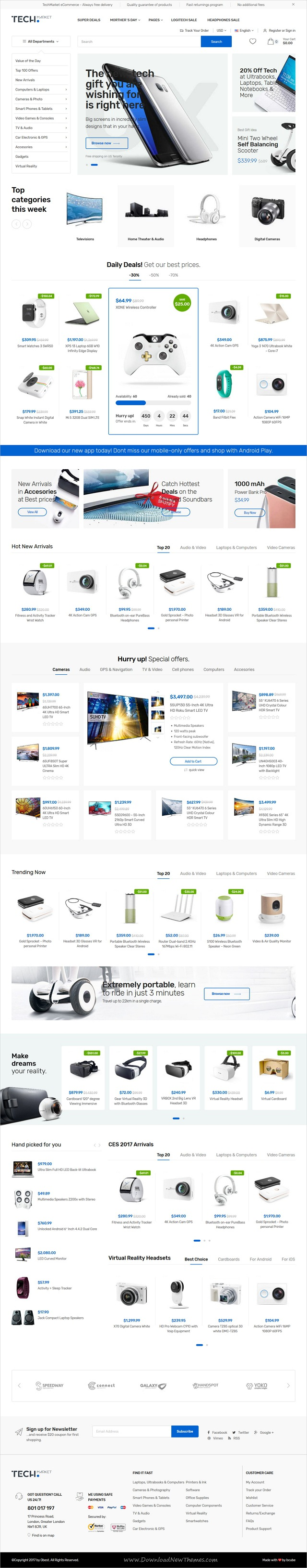 TechMarket is clean stylish and modern design responsive Shopify