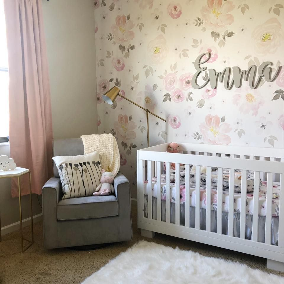 Baby Girl Nursery  Girl nursery room, Baby girl nursery pink