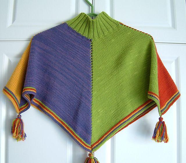 Child's Poncho pattern by Elizabeth Fallone | Baby