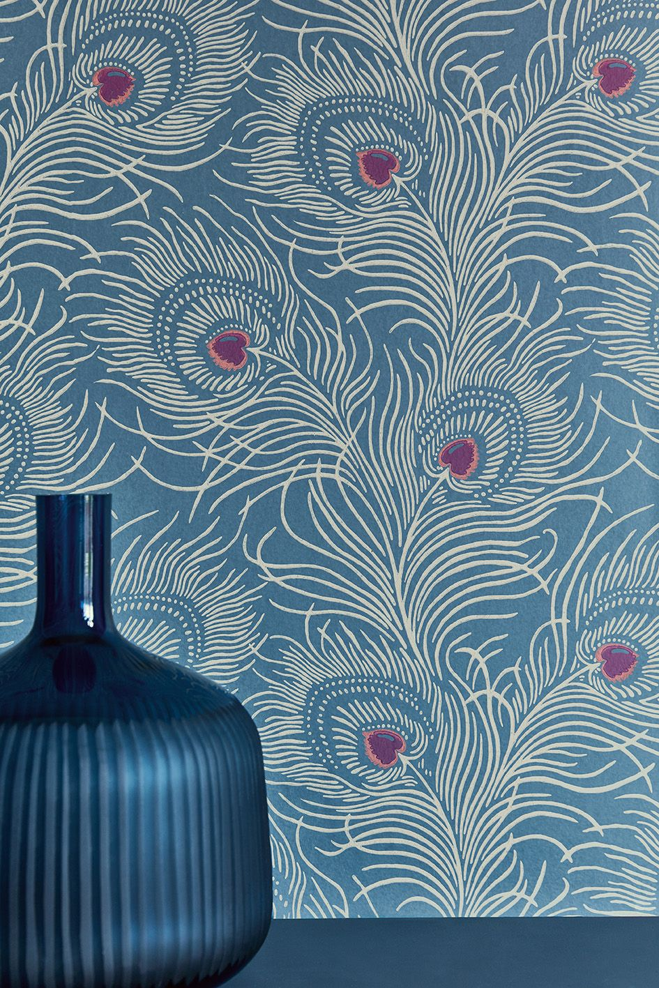 Wallpaper Carlton House Terrace Blue Plume Fireplace