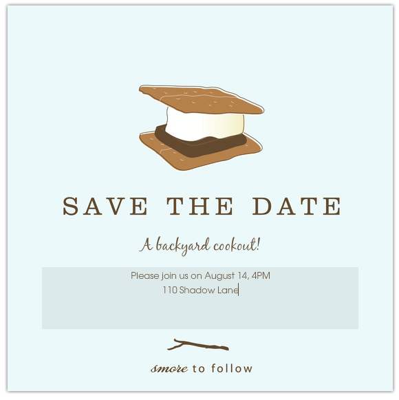 S'mores summer party invitations - adorable! (And no paper - all online!)