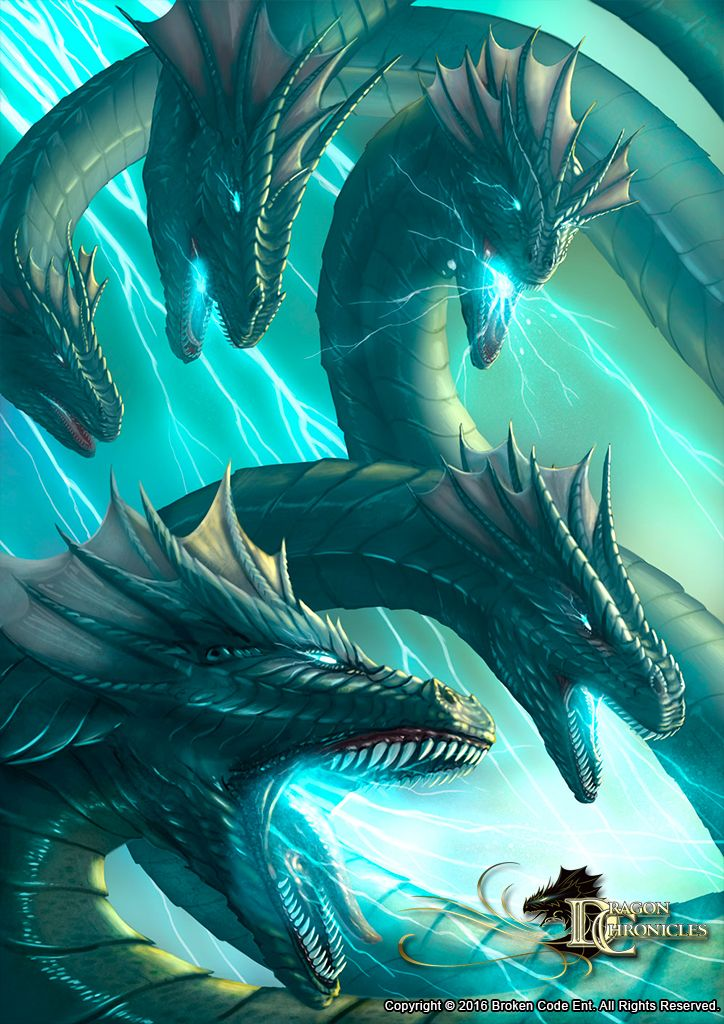 Dragon Chronicles Lightning Hydra By Robertcrescenzio Deviantart Com On Deviantart Lightning Dragon Dragon Coloring Page Realistic Dragon