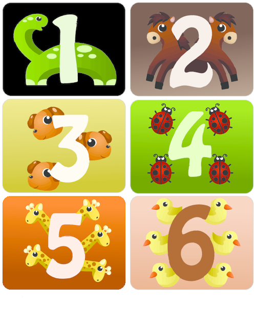 Counting With Animals Flashcards 1 6 Kidspressmagazine Com Animal Flashcards Flashcards Printable Flash Cards
