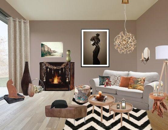 Kuscheliges Wohnzimmer Brauntöne