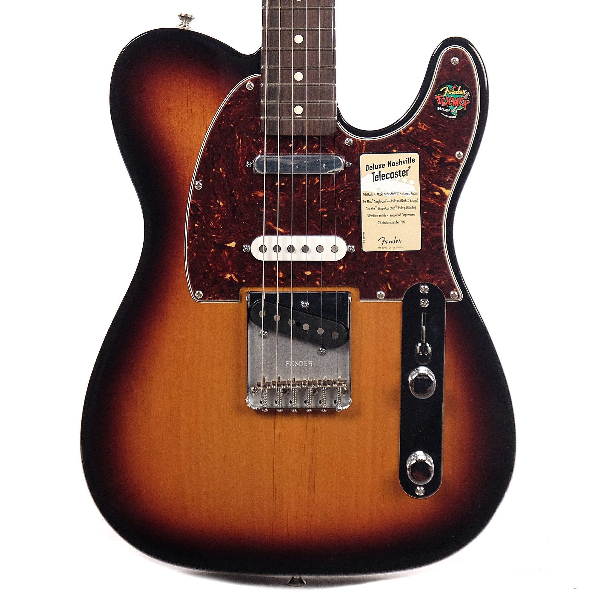 Fender Deluxe Nashville Telecaster Brown Sunburst B Stock