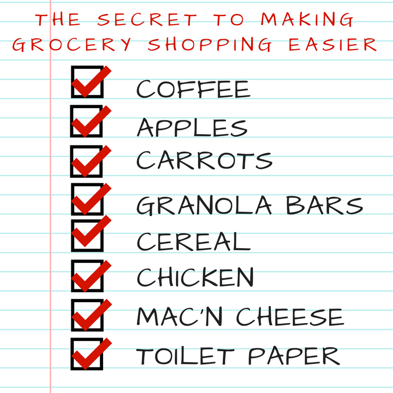 making a grocery list