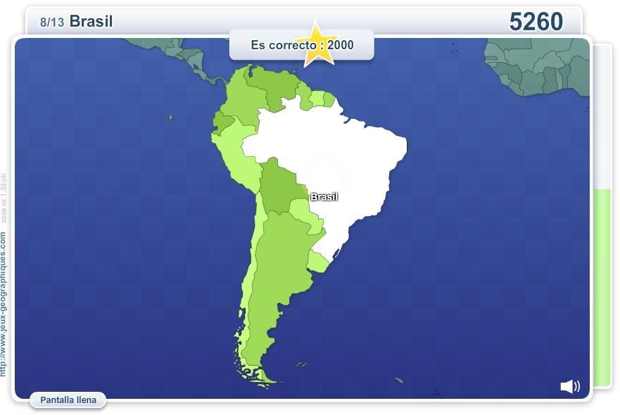 Mapa interactivo de Amrica del Sur Geo Quizz Amrica del Sur