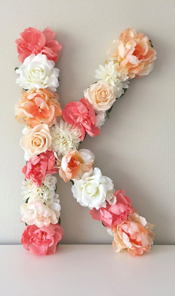 Bedroom Decor Letters large flower letter, floral nursery letter, personalized letter