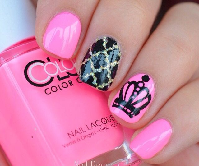 crown nails Princess Nail Designs, Princess Nail Art, Glam Nails, Pink Nails , - Crown Nails Nails In 2018 Pinterest Nails, Nail Art And Nail