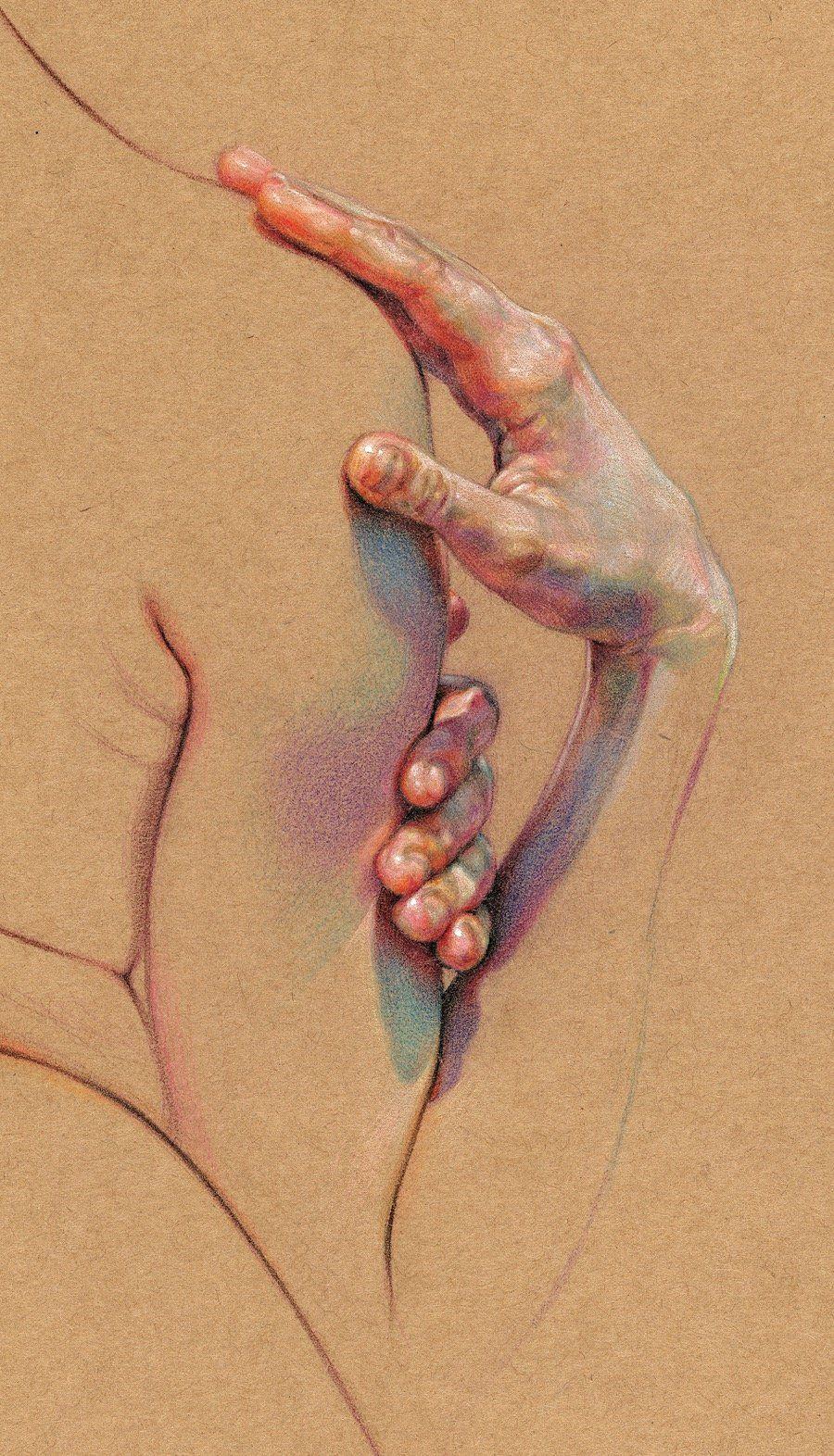 WanJim Gim malt den menschlichen Körper mit Buntstiften Warum so ...