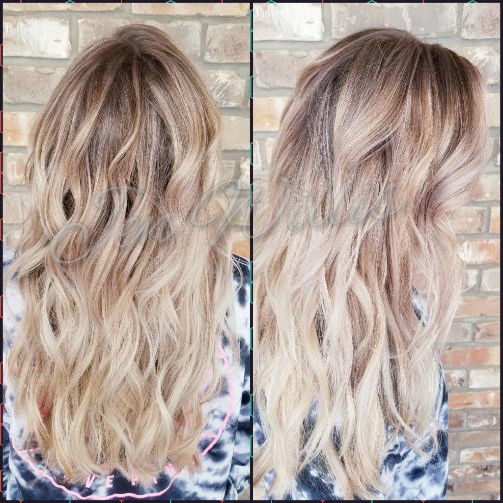Blonde Hair Foilayage Baylayage Shadow Root Salon Platinum Conway Ar