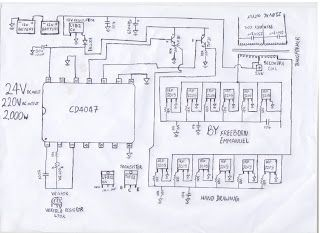How To Build A KVA Inverter Circuit Diagram UPS Pinterest - Circuit diagram of an inverter