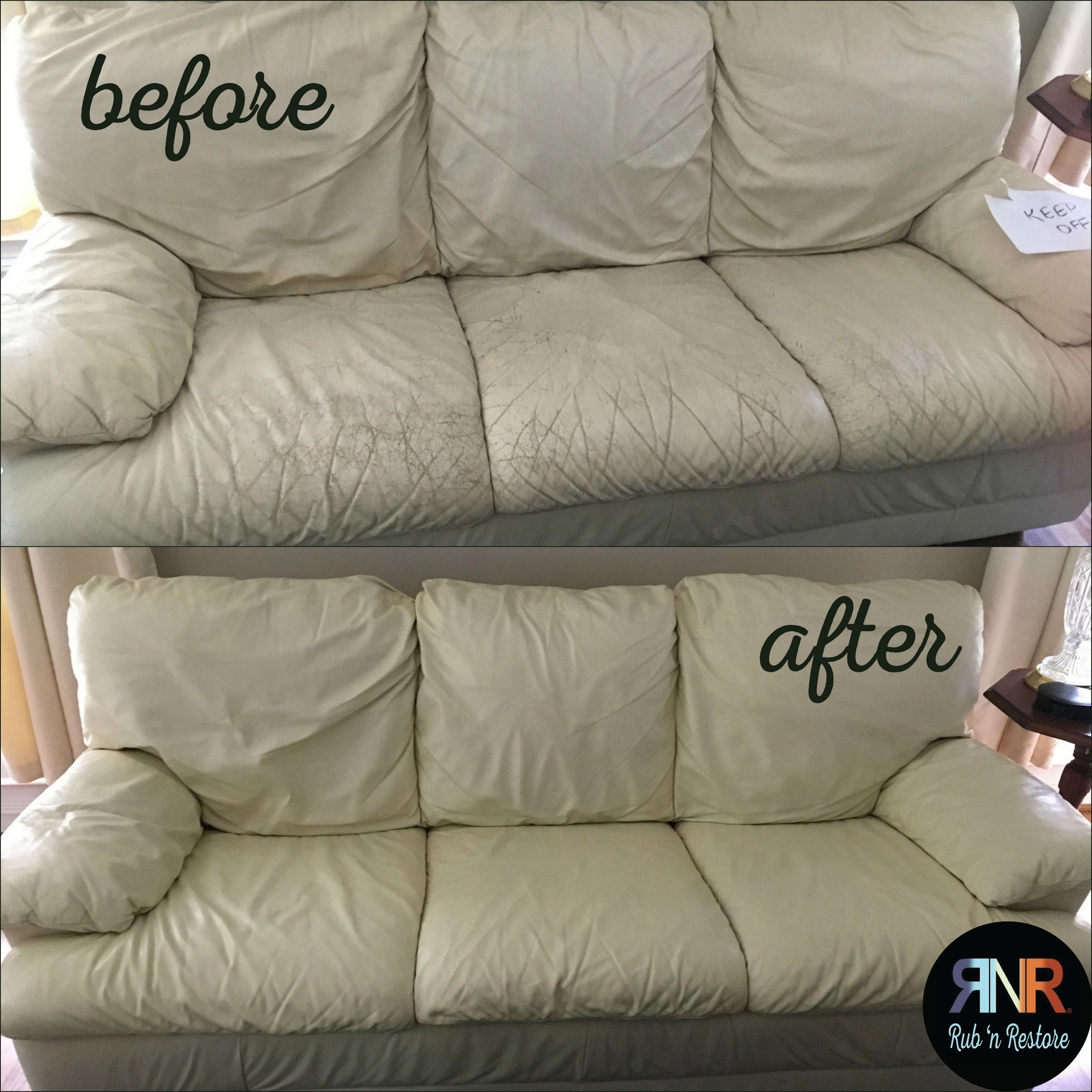 Ivory Color Vinyl Leather Finish Restores Seals Protects White Leather Sofas White Leather Couch Leather Couches Living Room