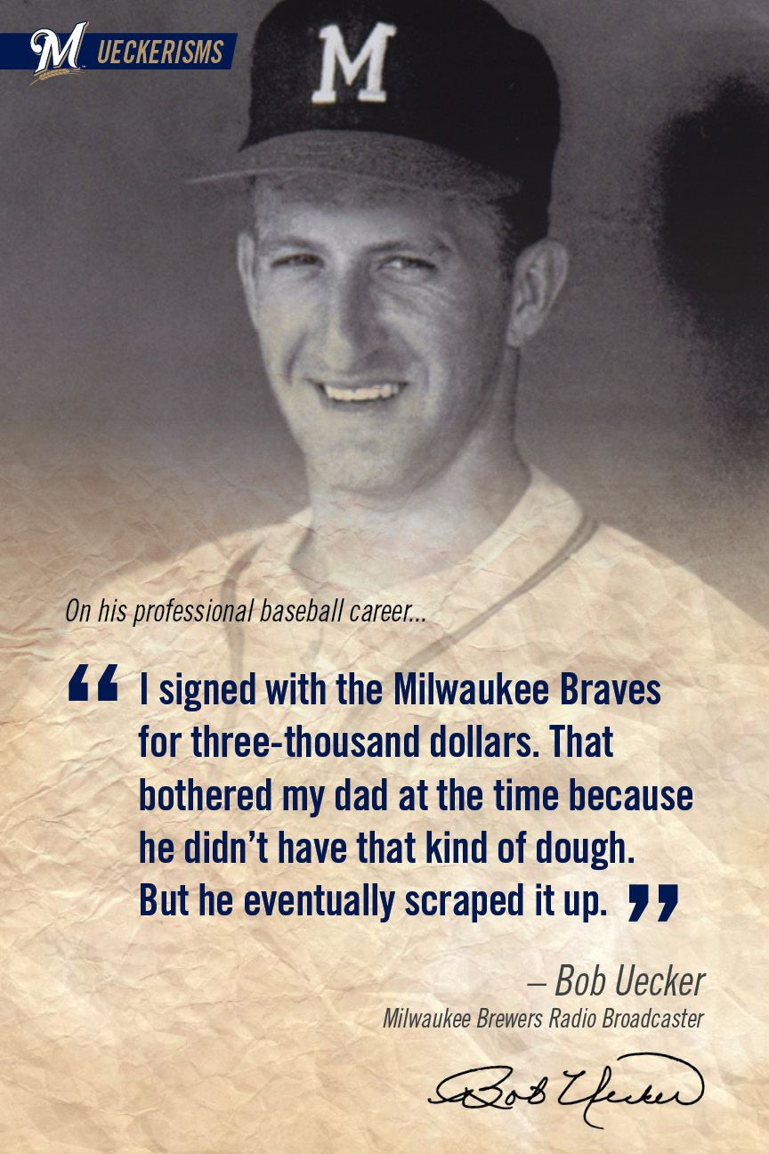 Pin By Milwaukee Brewers On Ueckerisms Milwaukee Brewers Baseball Brewers Baseball Baseball