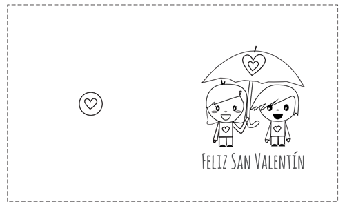 Tarjetas de San Valentín para colorear | Manualidades San Valentín ...