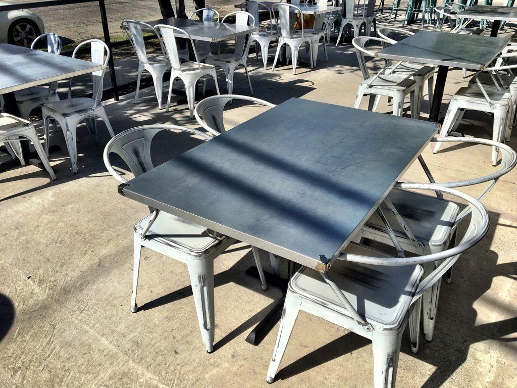 Galvanized Metal Outdoor Table Tops Metal Table Metal Outdoor Table