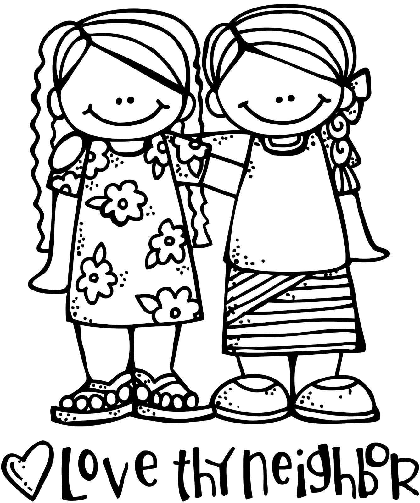 Kids Sharing Clipart Black And White Way fun Clipart...