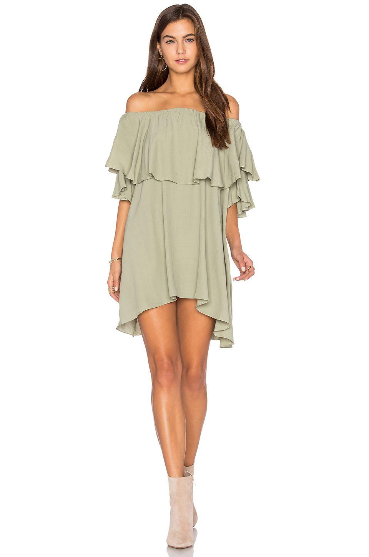 Mlm label maison shoulder dress in olive shop collectivestyles
