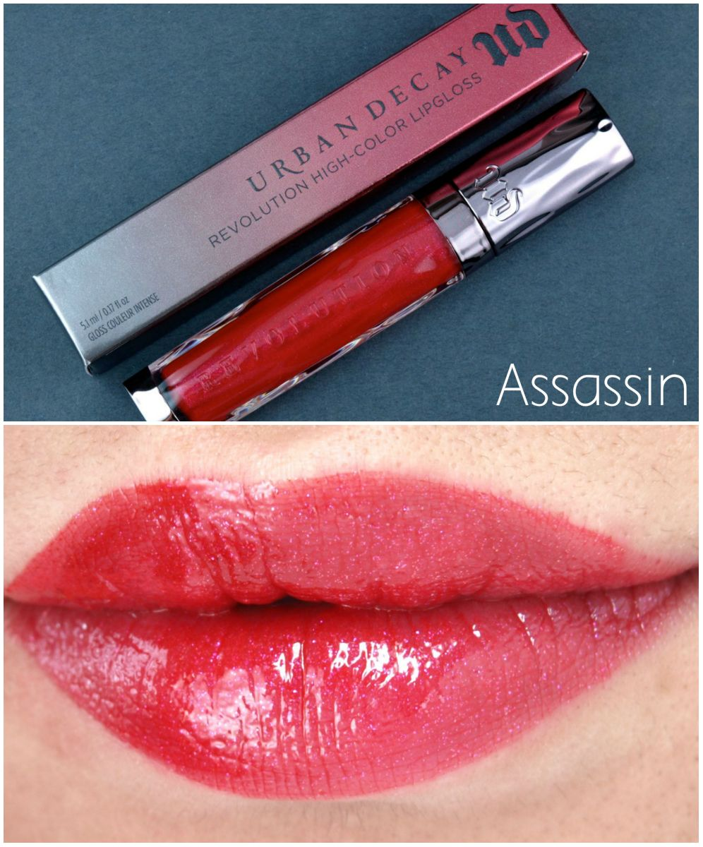 Urban Decay Revolution HighColor Lipgloss Review and