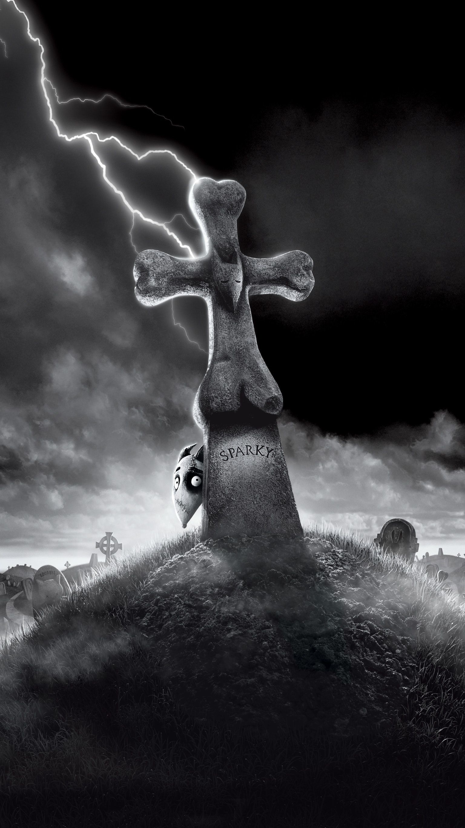 Frankenweenie 2012 Phone Wallpaper Moviemania Tim Burton Art Tim Burton Movie Phone Wallpaper