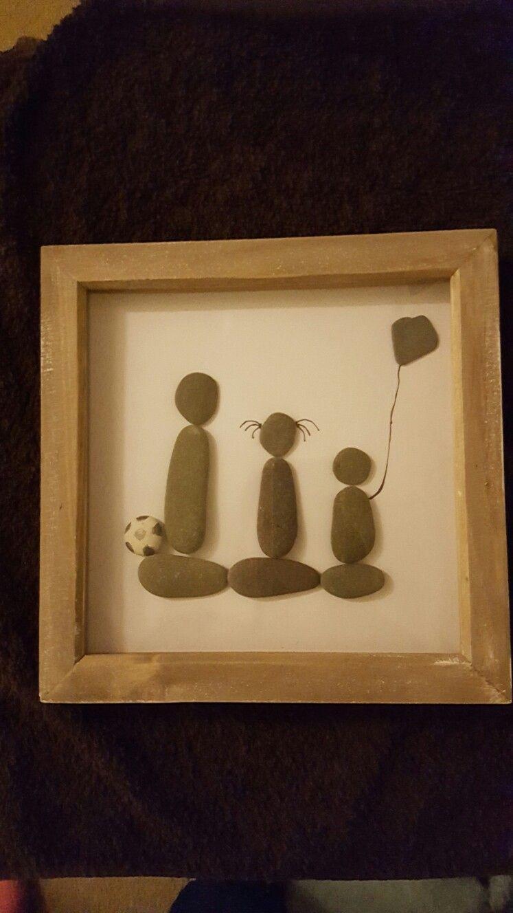 Pebble art. Grandma\'s grandchildren x   Pebble art   Pinterest ...