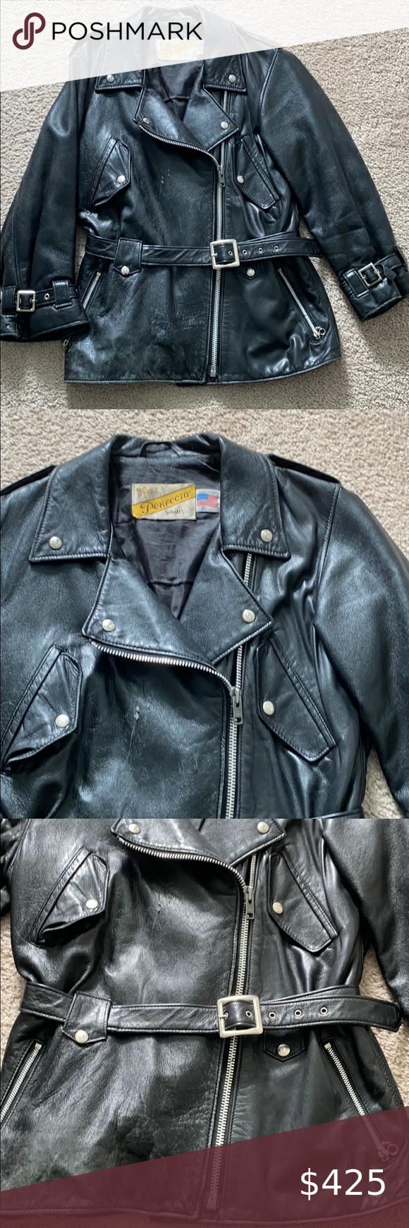 Vtg Rare Schott 217w Leather Motorcycle Jacket Leather Motorcycle Jacket Jackets Leather [ 1740 x 580 Pixel ]