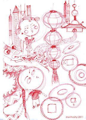 Shanghai pen sketches