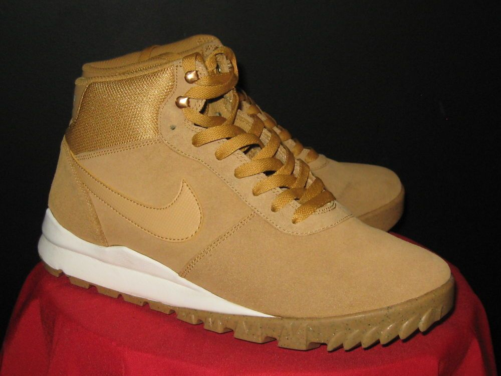 ... mens nike hoodland suede boots acg sz 10 wheat trail nike acgboots ...