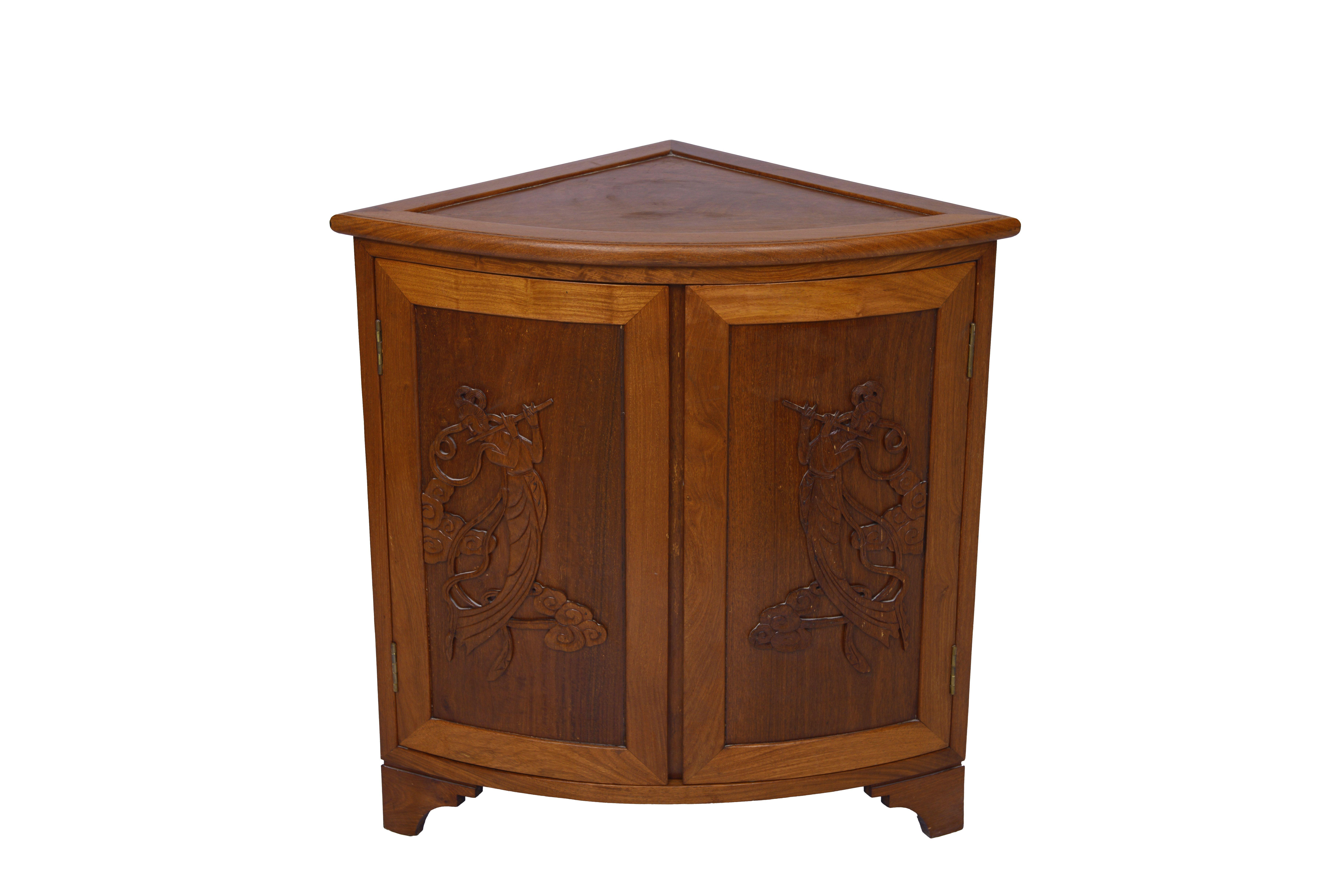 Classic Quarter Round Corner Furniture Antique hand carved ...