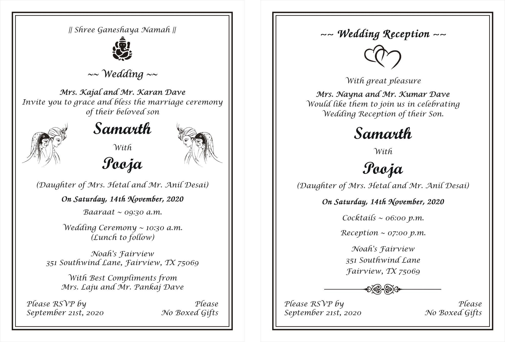 Marriage Invitation Card Format In English Pdf In 2021 Wedding Invitation Card Wording Marriage Invitation Card Format Wedding Card Format